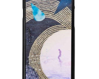 NEW iPhone 7/7+ Case, Bleu, Indigo, Sea, Waves, Beach, Surf, Ocean Art, Ocean, Sunset, Art, Avail with Black or White case color