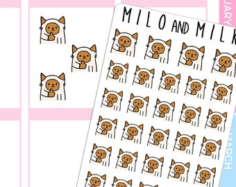 Thumbs Up, Good Job Cat | Planner Stickers |