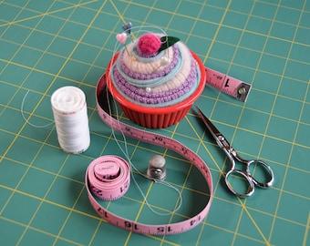 Snuggly Blanket Pincushion Cupcake, Cupcake Pin Cushion, Pink Purple and Blue Cupcake Gifts, Christmas gifts under 15 dollars