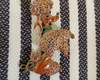 Vintage French Poodle Brooch