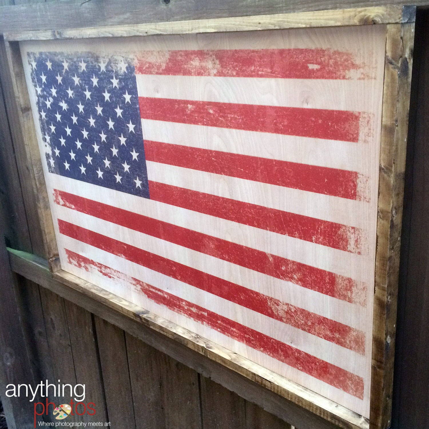 Colorful Framed Us Flag Ideas - Picture Frame Ideas ...