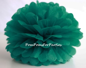 1 High Quality TEAL Tissue Pom Pom - Choose any of 50 colours - Hanging  Paper flower - Tissue paper balls - Tissue paper pom poms