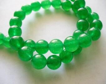 Jade Beads Gemstone Green Round 8MM