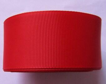 ruban, gros grain, ruban 38mm de largeur, ruban rouge