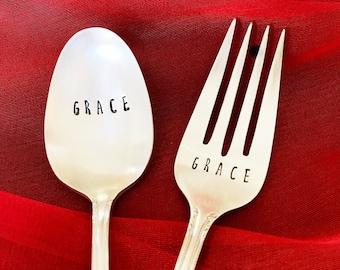 Personalized utensil set  (fork & spoon)