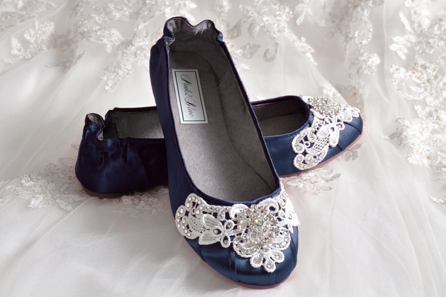 Navy blue wedding shoes ballet flats 250 colors vintage zoom junglespirit Image collections