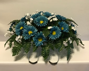 Headstone Saddle, Cemetery Flowers, Graveside Flowers, Grave Markers, Daisy