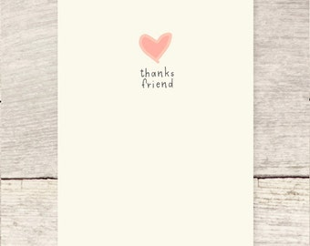 Thanks Friend | My Heart Is Full greeting card