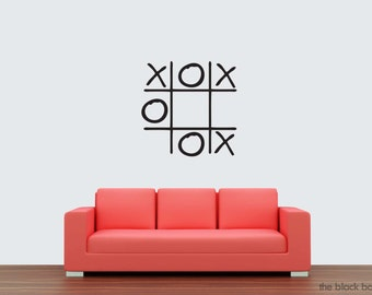 Tic Tac Toe wall decal