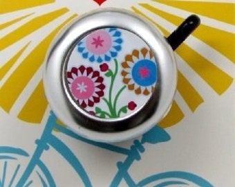 white floral bike bell