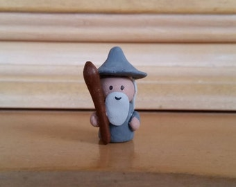 Gandalf Clay Mini-figure / LOTR / Lord of the Rings / The Hobbit