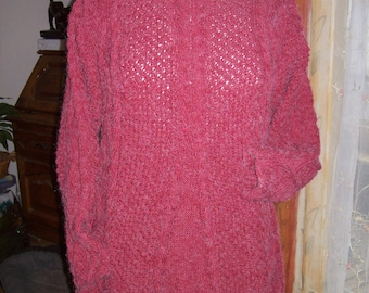 Pullover tunic long sleeve - red color