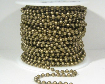 10ft 3.2mm Ball Chain - Antique Brass - CH97-AB