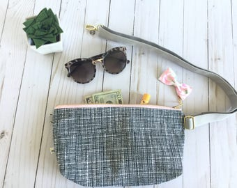fanny pack, floral fanny pack, grid fanny pack, bum bag, hipster fanny pack, festival pack, cool fanny pack, floarl bum bag