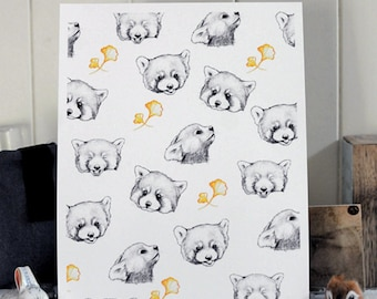 Red Pandas Print A4 Open Edition