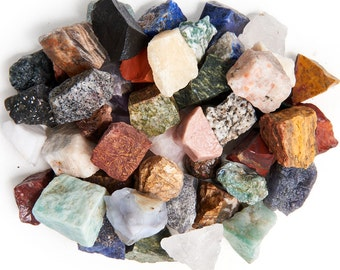 """Digging Dolls: 3 lbs Natural Asia and Middle East Rough Stone Mix - Made with Over 45 Types of Stones - Large Size - 1"""" to 1.5"""" Average"""
