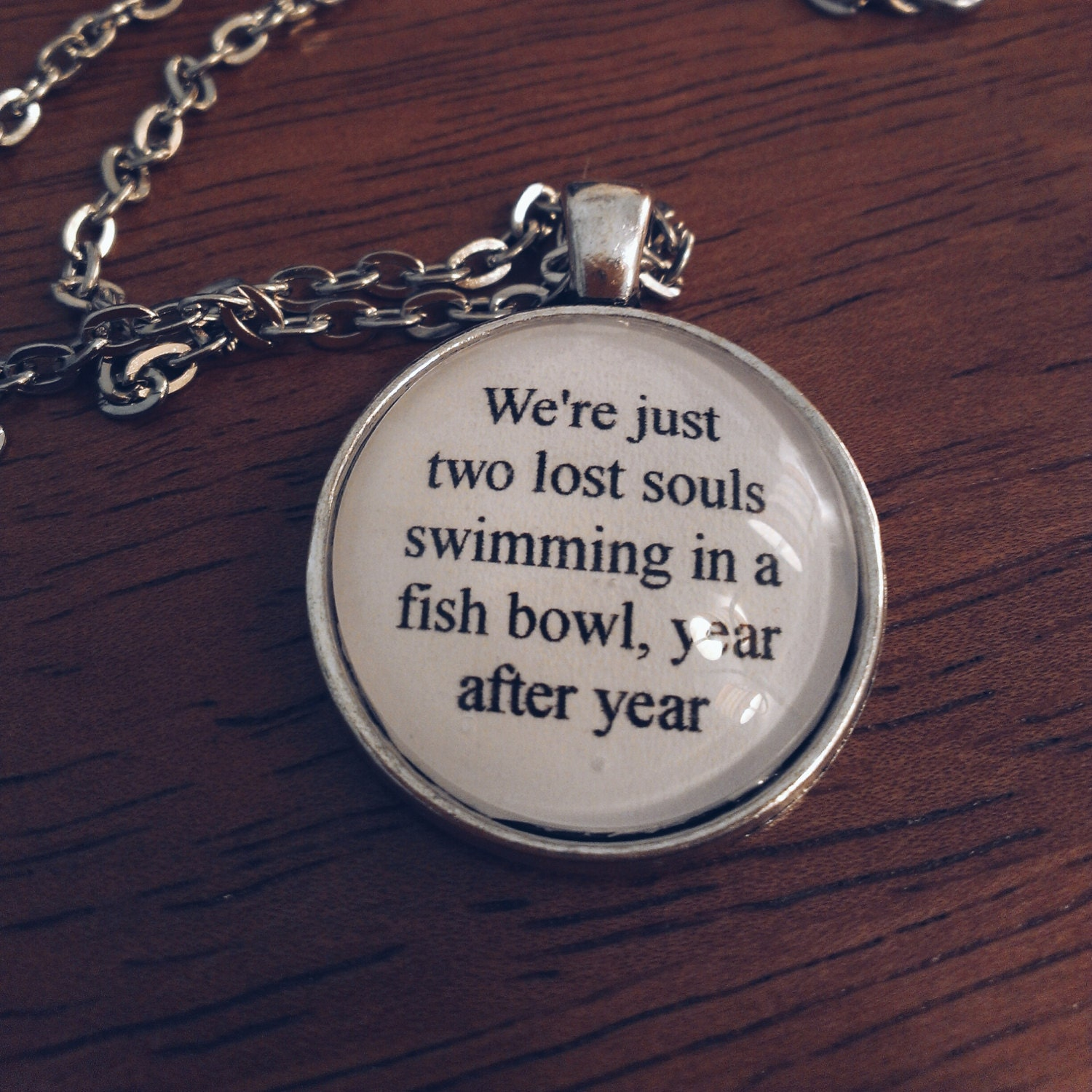 Wish You Were Here Quotes Wish You Were Here Lyric Necklace Pink Floyd Lyric Quote