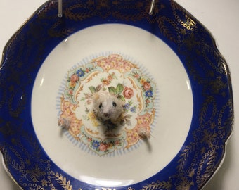 Taxidermy Mice on Plate