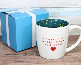 I Love You To The Moon Inside Out Mug With Gift Box