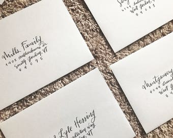 Invitation Handlettering Addressing