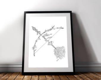 Bow & Arrow Gliceé Art/Canvas Print [Limited Edition]