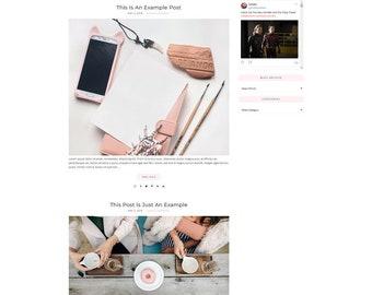 Responsive Wordpress Theme Ella Sophia - Genesis Child Theme - Wordpress Template - Wordpress Blog - Blog Design