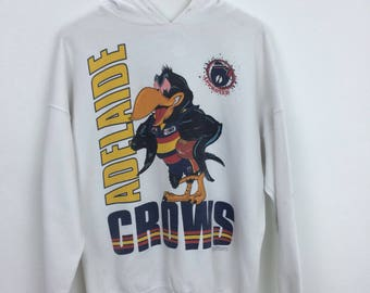 Vintage 90s Adelaide Crows Australia Football Sweater Hooded Size M