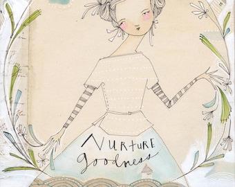 nurture goodness - 8 x 10 - limited edition archival print by cori dantini