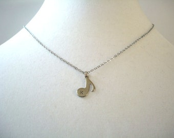 Personalized Music Note Necklace