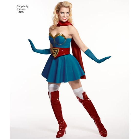 $4.95  sc 1 st  Etsy & Sewing Pattern D.C. Comics Bombshells Super Girl Costume Simplicity ...