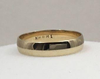 10kt gold wedding band size 7.5