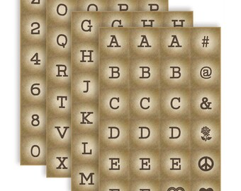 Art Sheets - Block Letters, Numbers, and Symbols