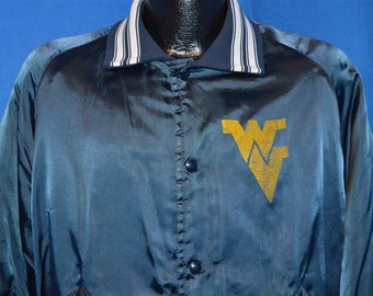 80s West Virginia Mountaineers Satin Jacket Large
