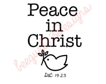 Peace in Christ Dove and Olive Branch Logo