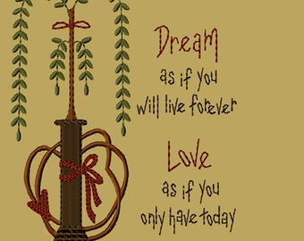 MACHINE EMBROIDERY-Dream-5x7-Fill-Instant Download