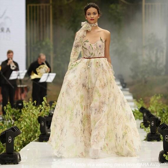 Böhmische Brautkleid LILY Boho Brautkleid einzigartige