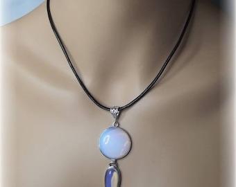 Knock round large Opal pendant