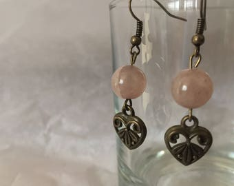 Handmade Brass Heart Earrings