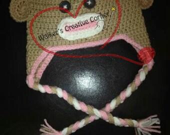 Neopolitain Sock Monkey Beanie