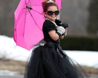 Breakfast at Tiffany's Tutu   Black Tutu   Black Tutu Skirt   Long Black Tutu Skirt   Toddler Tutu   Mini Audrey Hepburn Costume
