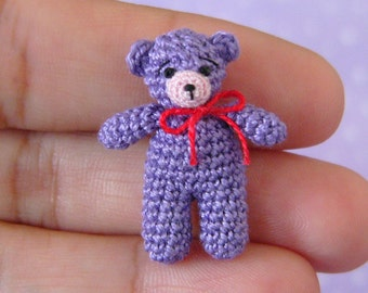 PDF PATTERN - Crochet Miniature Matchbox Bear -Amigurumi Tutorial