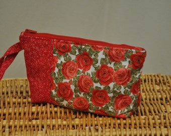 Mini clutch (roses and coordinating red)