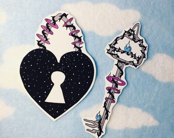 Key To My Heart Anti-Valentine Sticker Set