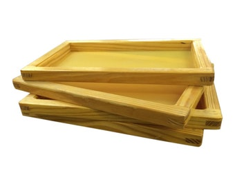 """SILK SCREEN FRAME for Screen Printing (12x16"""") high quality mesh White or Yellow"""