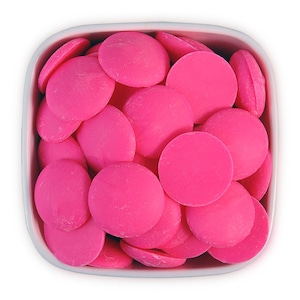 Pink Candy Melts 1 LB - bright hot pink melting chocolate wafers for cakepops or chocolate making