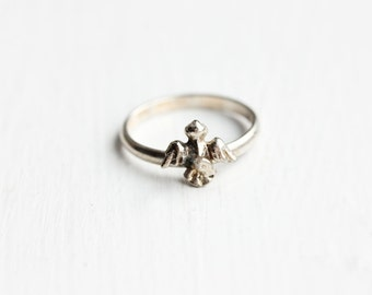 Tiny Silver Eagle Ring - Size 3.5 or 4