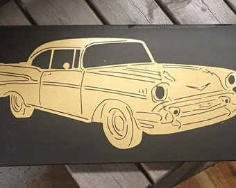 Painted Wood Car Sign Belaire PICK THE CAR You Want