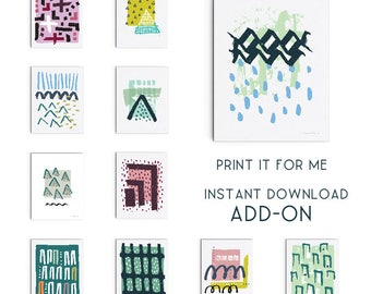 Printing Service Add-on for an Instant Download - Giclee Print - Art Print - Wall Art - Digitally Printed