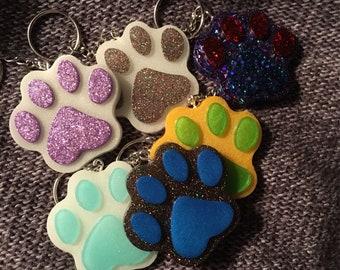 Custom paw print keychain