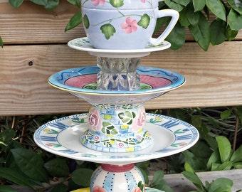 Garden Totem - Garden Tea Party